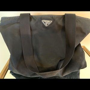Authentic Prada Black Nylon Tote